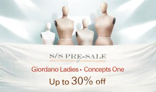 Giordano Ladies 及Concepts One 低至七折
