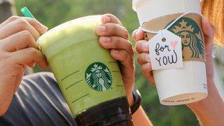 啟動星巴克卡自動增值服務 可享中杯裝或以上之手調飲品買一送一